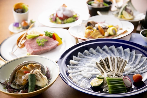 【全室オーシャンビュー】〜五感で味わう美食の旅〜風の海で味わう、極上満関善席プラン