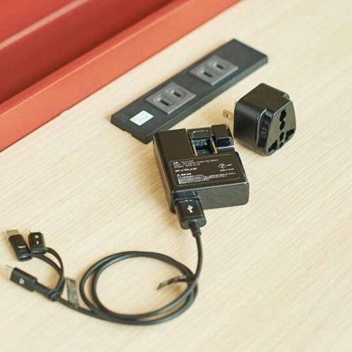【貸出・備品】各社携帯電話用の充電器で急な宿泊も安心