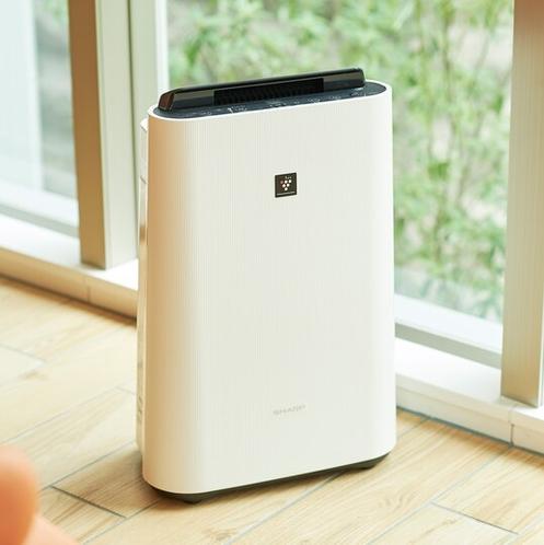 【客室・備品】加湿機能付き空気清浄機で快適な宿泊空間を