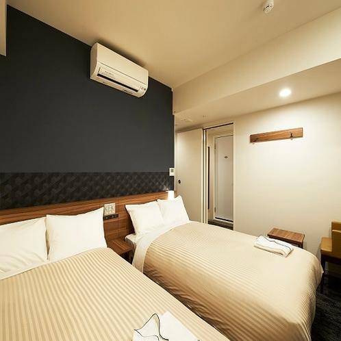 【客室】リラックスツイン<18.8m2>シーリー製ベッド幅120㎝