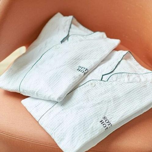 【客室・備品】セパレートタイプでワッフル素材の快適パジャマ