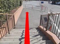 ◆シーのバスのりば道順5◆階段を下る