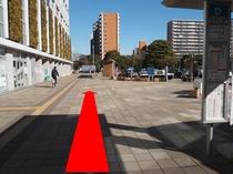 ◆新浦安タクシー乗り場1◆バス停Dより更に進む