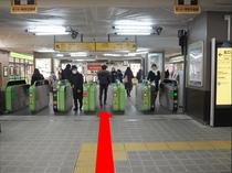 ◆新浦安駅「D」のりば案内1◆改札を出ます