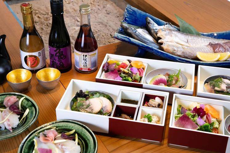 【酒肴】~目で見て楽しい、食べて美味しい、丹後の幸~地元で獲れた新鮮な食材を使ったお料理を心ゆくまで