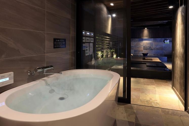 【内湯】各棟にご用意しておりますお風呂は、すべてあなただけのもの。24時間お好きな時にどうぞ
