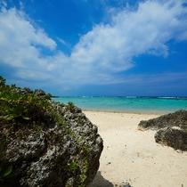天然のビーチだからこそ自然の形をそのままに、駆け出したくなる美しさ!