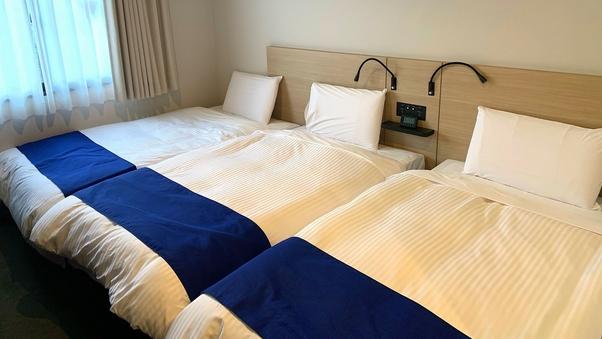【禁煙】トリプル/ベッド幅110cm/17平米
