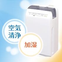 全室常備の加湿機能付空気清浄機♪