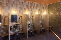 女性大浴場は柔らか色のモザイクタイルがアクセント♪