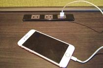 デスクやベッド周辺にはUSB電源をご用意致しております。