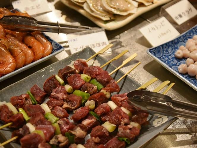 【夕食焼き物一例】非日常食材「マグロのほほ肉」好評です!