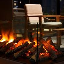 暖炉(ロビー設備)