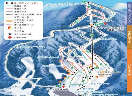 竜王スキーパーク コース案内