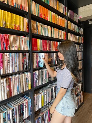 廊下にも本がたくさん♪