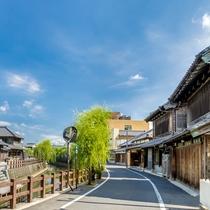 江戸後期から明治前期にかけて最も発展してきた佐原商家町
