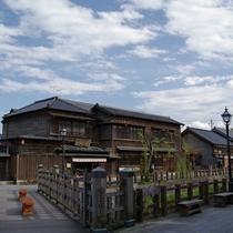 小野川沿いの水郷商都が重要伝統的建造物群保存地区に選定されています