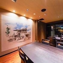 *[CAFE&DINING Cresson一例]スタイリッシュなデザインの館内
