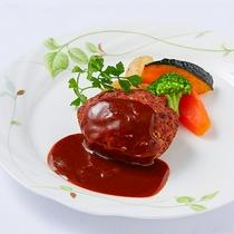 *[夕食一例/ハンバーグステーキ]選べるメインのディナーコース