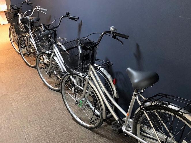 貸出自転車 ※無料でご利用いただけます。新宮市は小さな街ですので、自転車があればどこへでも行けます。