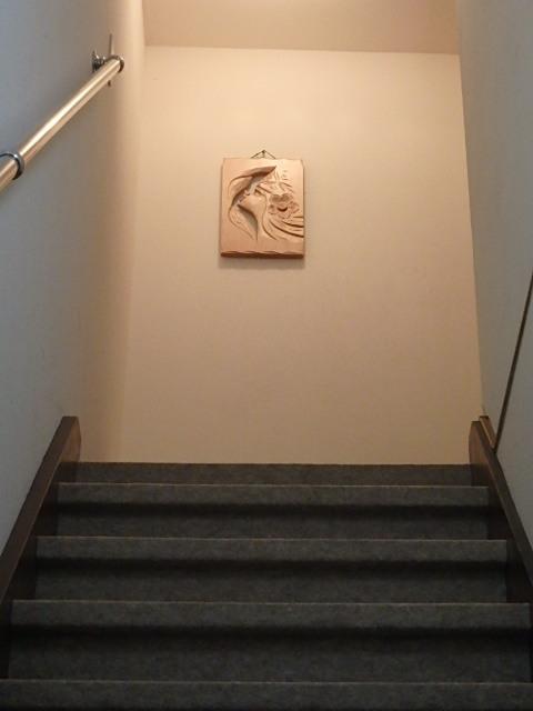 京の宿西大路お部屋に上がる階段です。