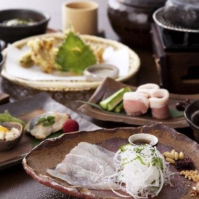 【2食付】国産塩麹豚の石焼や鯛のカルパッチョなど♪《季節の会席》好評の《籠盛り和朝食》プラン