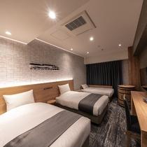 スーペリアツイン(3名) ―軟石デザイン― ※客室デザインはお選び頂けません。当日までのお楽しみ!