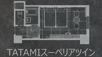TATAMIスーペリアツイン(間取り)