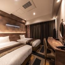 スタンダードツイン ―倉庫デザイン― ※客室デザインはお選び頂けません。当日までのお楽しみ!