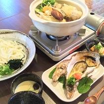 牡蠣鍋プランには、選べるシメもついており、他にも焼き牡蠣や茶碗蒸し・小鉢にワンドリンク付きで大満足!