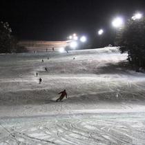 当館から送迎随時OK!「いいづなリゾートスキー場」はナイター営業もあります!