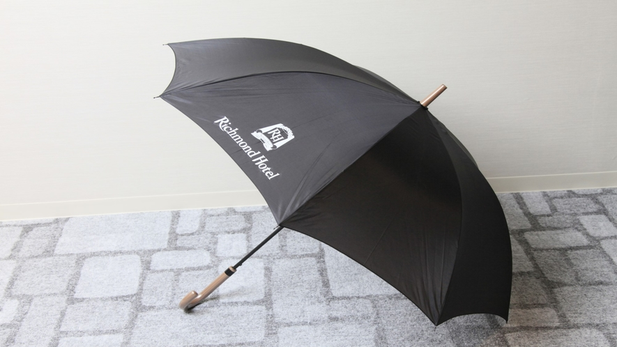 突然の雨でも安心!雨の日は無料貸し出しの傘をご準備しております
