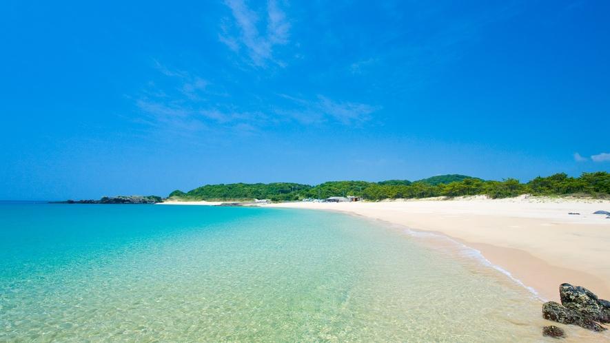 *【錦浜海水浴場】当館から車で約35分。壱岐一番のマリンスポーツのメッカ!壱岐の三大ビーチの一つ!
