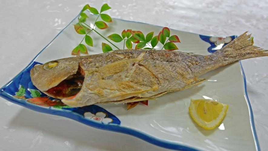 *【夕食一例】獲れたての旬のお魚は味が違います!!