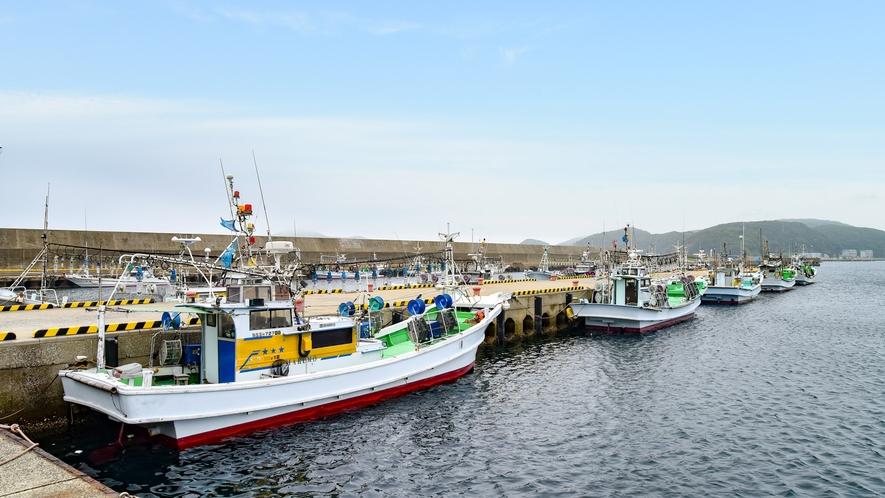 *【周辺/勝本港】勝本港から辰ノ島への遊覧船が出ています
