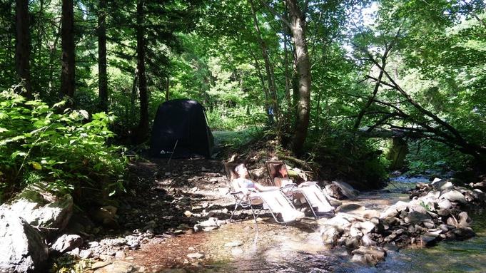 平日限定!秋得バーゲン 天然の水風呂(川)と森林浴で極上のととのい 貸切テントサウナ2食付き
