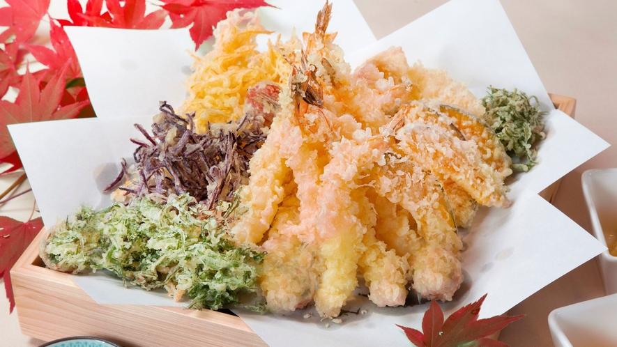 海老と秋野菜の天ぷら
