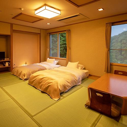 ■和室12畳■井草の香りも楽しみつつ、ローベットなので身体も痛くならずにお過ごしいただけます