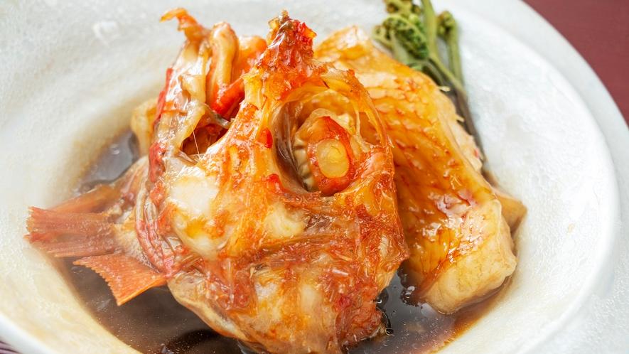 【キンキの煮物】メンメとも呼ばれる高級魚を煮つけにした一品