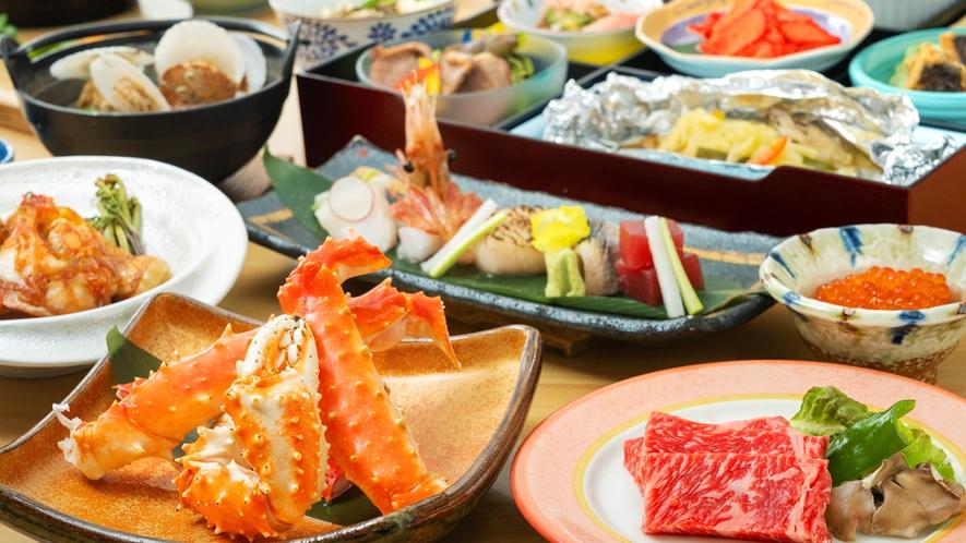 【極上膳-滋味御膳-】北海道産の牛肉・キンキ・タラバ蟹、この地を代表する食材が饗宴する贅沢な会席