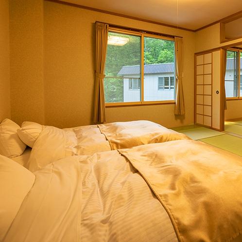 ■和室18畳■シモンズマットレス使用。ふかふかのベッドで旅の疲れを癒しましょう