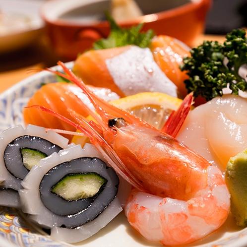 ■こだわりの食材■『知床の海産物』新鮮な海の幸の数々をお愉しみください