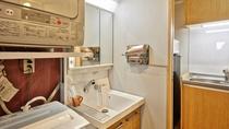 【1K】洗面台とキッチン