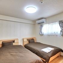 1LDK_ゆったりとしたベッドルームです