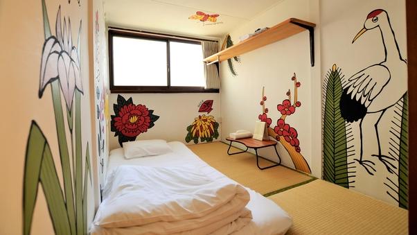 布団でぐっすり3畳個室の和室(全室禁煙)