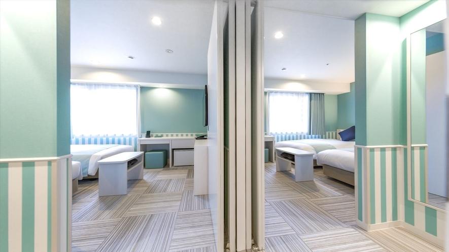 コネクティングルーム スタンダードツインルーム2室が内扉でつながっています。4名様利用にぜひ!