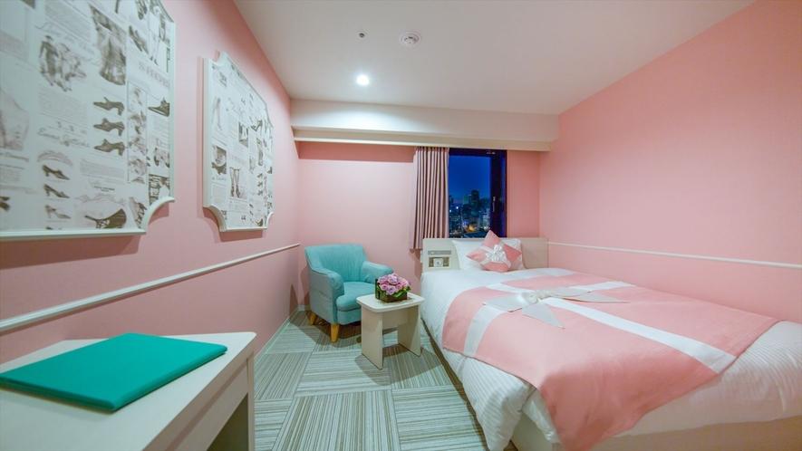 レディーススタンダード シャワー② ベッドサイズはダブルサイズで広々140センチ幅。
