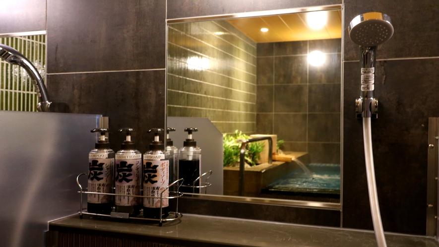 【シャンプー類(男性)】炭エキスと天然洗浄成分使用のノンシリコンシャンプー。