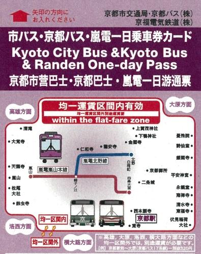 【市バス・京都バス・嵐電1日フリー切符】