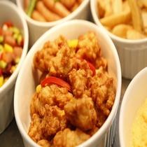 ◆朝食:鶏から揚げ